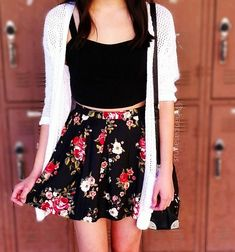 Floral skirt- spring/summer outfit