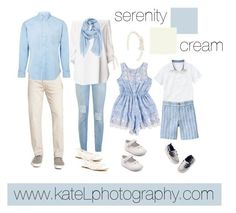 Pantone Color of the Year: Serenity // family outfit inspiration: what to wear for a family photo session in the spring or summer. Created by Kate Lemmon, www.kateLphotogra...
