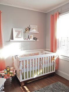 Coral and grey nursery