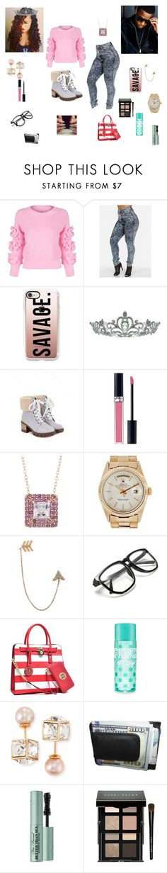 Jeremih by queenraina1 on Polyvore featuring WithChic, Vita Fede, Bee Goddess, Rolex, Gioelli, Casetify, Kate Marie, Bobbi Brown Cosmetics, Christian Dior and Too Faced Cosmetics