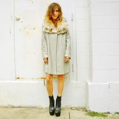 Dove Gray Leather Trench, $182, now featured on Fab.