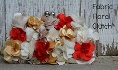 how to make a chiffon floral clutch...I love this blog!