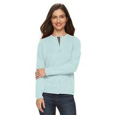 Women's Croft & Barrow® Cozy Essential Cardigan Sweater, Size: