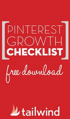 Dust off those cobwebs and show your Pinterest account a little love with our free downloadable Pinterest growth checklist.