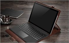 There are 4 color of leather case for your Surface Pro 4, Black, Brown, Dark blue, Rose red.  Product Feature: 1. Easy to Take off 2. Full Protection 3. Can put your Pen
