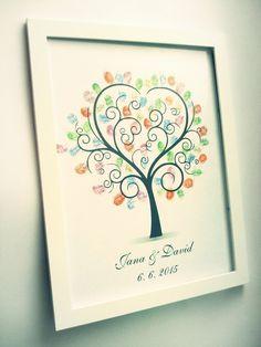 svatební obraz, kniha hostů, svatba, netradiční, strom, originální