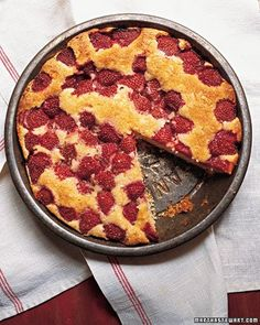 Strawberry Cake - Martha Stewart Recipes - This was awesome! Made it yesterday. Love it.  Strawberrys hold their texture well.