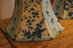 Lamp Shade in French Indigo Blue Floral Lampshade by lampshadelady, $75.00
