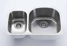 Majestic Sinks   17 GAUGE 18/10 Undermount Sinks Kitchen   Double Bowl