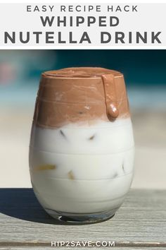 Just when you thought you had tried it all, the world went viral with this whipped Nutella drink & we're all here for it! Try this recipe hack STAT! Fun Drinks, Yummy Drinks, Delicious Desserts, Beverages, Yummy Food, Coffee Drink Recipes, Coffee Drinks, Coffee Tray, Easy Coffee