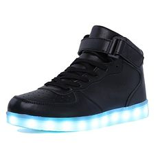 CIOR High Top Led Light Up Shoes 11 Colors Flashing Rechargeable Sneakers for Mens Womens Girls Boys101B0138 *** Visit the image link more details.