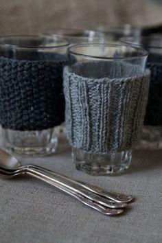 Fundas de lana para vasos