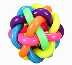 Bell Weave Colorful Rainbow Ball Sized Dog Pet Dog Utterance Ball Bells Ball ** Find out more about the great product at the image link.(This is an Amazon affiliate link and I receive a commission for the sales)