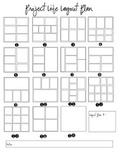 Project Life Layout Plan