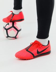 6c7a87448e98 Nike Soccer phantom venom astro turf boots in red