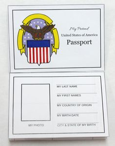 Free printable passport activity passport free for Passport photo print template