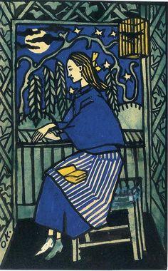 Women at a Window, 1908 Oskar Kokoschka Austrian painter Edvard Munch, Klimt, Expressionist Portraits, Karl Schmidt Rottluff, George Grosz, Chaim Soutine, Emil Nolde, Franz Marc, Ludwig