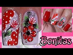 Purple And Pink Nails, Merry Christmas Gif, Cute Animal Photos, Manicure And Pedicure, Nail Designs, Nail Art, Akira, Youtube, Chic Nails