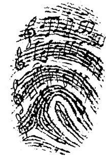 Music as Identity – for junior high and college, too! It would be awesome to use someone you love's fingerprint and notes from a song that makes you think of them, incorporated into a tattoo… Music Is Life, My Music, Music Heart, Music Flow, Music Guitar, Ukulele, Music Tattoos, Tatoos, Love Music Tattoo