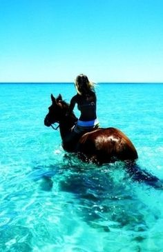 Horseback Riding in the Ocean... This would be like the best thing ever
