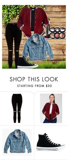 """""""Untitled #37"""" by malina-dobrescu ❤ liked on Polyvore featuring New Look, American Apparel, Lucky Brand, Converse, Laura Geller and plus size clothing"""