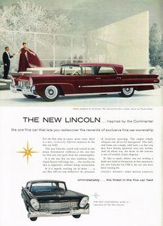 Lincoln Premiere Landau & Continental Mark III - adv (1957)