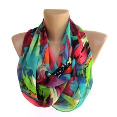 neon infinity scarf ,women scarves ,summer ,spring fashion accessories . girly , chiffon scarves . ALL TREND COLORS on Etsy, $19.00