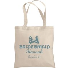 Bridesmaid Insert Name | Customize your own bridesmaid tote for all your bridesmaids! Add their names and your wedding date and make an excellent gift for all the ladies!