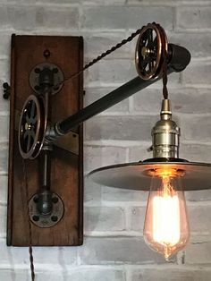 Industrial Lighting: Small Vintage Pulley by TrishAndTomVintageCo