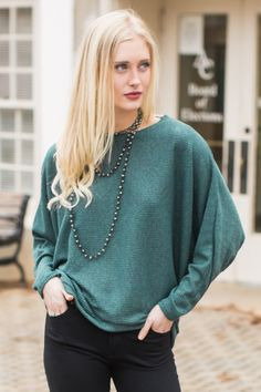 On A Staycation Green Top at reddressboutique.com