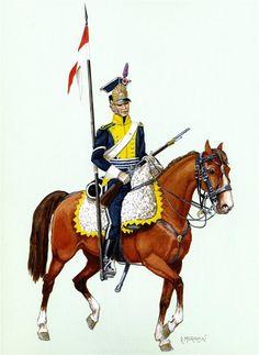 Vistula Ledion Uhlan flanker 8th Company of the 4th eskadrona.1811-12