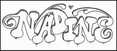 Learn How To Draw Graffiti Name NADINE - Graffiti Tutorial - step by step