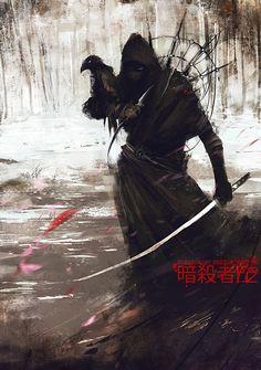 Ssu-Lin-Xia dell'Occaso con Cristak, corvo dell'Anak - Ninja Assassin