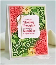 Healing Thoughts: Tudor Rose Card Front Instructions. Dies: Spellbinders Paper Arts. Coloring medium: Copic markers and Airbrush System. Sentiment: JustRite Papercraft. Blog post is here: http://debbiedesigns.typepad.com/muse_and_amuse/2014/12/healing-thoughts-tudor-rose-card-front-instructions.html