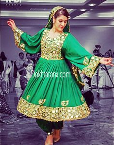 Afghani Green Formal Dresses Simple