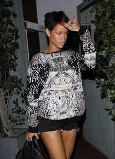 Pop star Rihanna seen leaving from her favourite restaurant Il Ristorante di Giorgio Baldi in Santa Monica #rihanna