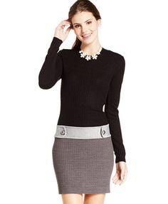 BCX Juniors' Cable-Knit Sweater Dress