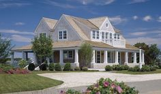 Photos of fine Cape Cod Homes - House at Harding Shores Overlook - Cape Cod Architects Cape Cod Exterior, Cottage Exterior, Waterfront Cottage, Waterfront Homes, Cape Cod Style House, Shingle Style Homes, Beach House Plans, Beach Cottage Style, Hamptons House