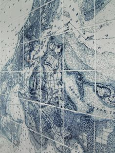 Detail of completed Shelter Island tile map. Photo by map co-designer David Patrick   . http://pinterest.com/alchemym/tile-map-project-shelter-island-ny/ . www.alchemymaterials.com