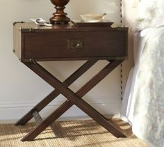 Devon Campaign Bedside Table #potterybarn