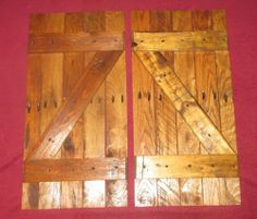 indoor shutter made from refurbished pallet wood (1 set) | JoJoBeesbarn - Woodworking on ArtFire