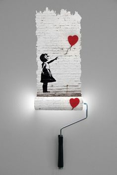 Natalie Sampson Designs Banksy paint roller wall lamps #graffiti #art #design #streetart #painting