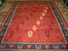 "#7: 6'10"" x 9'1"" Persian Khamsehbaf. Stunning! Absolutely gorgeous Persian tribal rug."