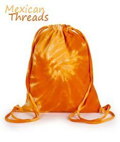 orange tie dye bag