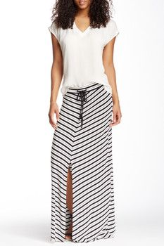 Seven7 Nautical Stripe Maxi Skirt