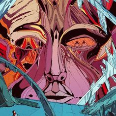 Do not disturb the genius who plants white roots, my subterranean nerve-endings Works by Kilian Eng Title: André Breton & Philippe Soupault Philippe Soupault, Kilian Eng, Jean Giraud, Bd Comics, Arte Horror, Science Fiction Art, Street Art, Psychedelic Art, Sci Fi Art
