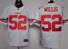Nike San Francisco 49ers #52 Patrick Willis White Elite Jersey