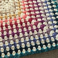 I love this - granny square, alternating white & color