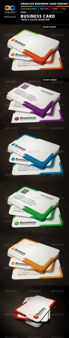 Cool Business Card  #GraphicRiver         Features :    •  Round /square corner possible.. •  Easy to edit. •  Landscape Design. •  Optimized for printing / 300 dpi. •  CMYK color mode. •  3.5 x 2 inch dimension. •  0.25 Beed. •  Included files are 2 psd (front & back) & help.txt. •  All PSD files are Grouped & layered. •  Adobe Photoshop CS4 version.  Note:  Font info is included in help file inside of the main file.  Please don't forget to rate my items      Thank you   …