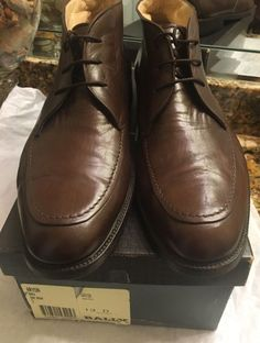BALLY ARYON Lace Up Brown Leather Ankle Boots Men Size 13 #Bally #AnkleBoots
